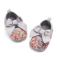 Rainbow Sequins Pearls Baby Girl Shoes Princess Shoes Newbor...