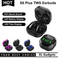 S6 PLUS Bluetooth 5.0 True Беспроводная стерео наушника Наушники TWS Earbuds со светодиодной батареей дисплея для телефона Samsung Galaxy