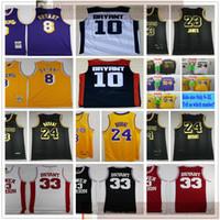 NCAA Hommes + Enfants Bas Merion 24 Bryant Basketball Jersey Shirt Vintage 8 33 10 Team Usa College Jerseys Purple Jaune Noir Blanc