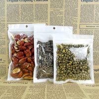 100pcs / lote 26 * 34 centímetros branca translúcida BOPP pérola filme ziplock sacos de feijão de café zipper saco reutilizável, bolsa de alimento seco