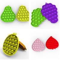 과일 모양 푸시 거품 감각 장난감 장난감 완구 quishy 스트레스 reliever 파인애플 배 복숭아 레몬 포도 테이블 게임 G12501