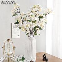 인공 사과 꽃 식물 가짜 꽃 장식 실크 꽃 플로레스 DIY 결혼식 홈 파티 장식 1
