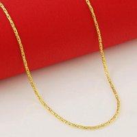 Cadenas de alta calidad 24k oro collares plateados collares de imitación cadena joyería al por mayor