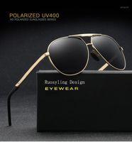 Lunettes de soleil Ruosyling 90 s Hommes Polarisée TR90 Ultralight Vintage UV400 Matte Black Verres Beach Classic Italie Design Eyewear1