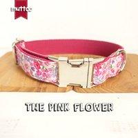 / Lot mutco en gros à la main en gros collier coloré de la main The Rose Flower Colliers de chien brillant à la mode 5 tailles LJ201109