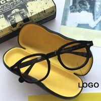Moda Gafas de sol Marcos Johnny Depp Acetato Vintage Gafas Hecho A Mano Hombres Con Logotipo Myopia Eyeaglasses Ópticos Mujeres Eyewear