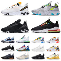 nike react vision element 55 87 Uomini donne 270 Reagire ENG Cactus Jack Percorsi Running Shoes Triple Nero Bianco Sneakers Sport Trainers