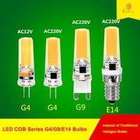 10 / lot LED COB G 4 / G9 / E 14 Ampoules 1 2 V / 220 V Lampe pour lustrer à projecteurs Suspending Lampetage Remplacer le navire gratuit, bonne qualité Beaucoup de gens l'aiment