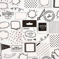 الدهون الكرتون الأسود والأبيض فقاعة دفتر لطيف نمط مخطط مذكرات اللوازم المدرسية هالوين هدية الشكر 1
