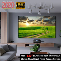 94 polegadas de 100 polegadas 160 polegadas 16: 9 Ust CLR / ALR Tela de projeção de quadro estreito com Pet Black Crystal para 4K Laser TV projetor