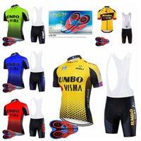 Jumbo Visma Team Mens Велоспорт Джерси Горный Велосипед Одежда Велосипеда Одежда Дышащая Рубашка с короткими рукавами 9D Нагрудник Шорты F072220