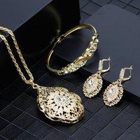 Sunspicems Gold Couleur Arraque Collier Boucle d'oreille Bracelet Bracelet Femmes De Mariage Ensembles de bijoux Maroc Caftan Accessoires de mode Caftan