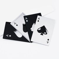 포커 카드 오프너 스테인리스 맥주 오프너 바 도구 신용 카드 소다 맥주 뚜껑 오프너 선물 LX3638 병