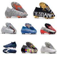 Top Quality CR7 SE ELITE VI 360 FG Soccer Sapatos Futebol Bota Mercurial Superfly 6 LVL ACIMA CRISTIANO RONALDO MENS CLEATS