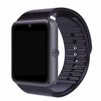 GT08 Bluetooth à puce montre avec slot carte SIM et NFC pour la santé Watchs Smartphone Android Samsung Bracelet Smartwatch