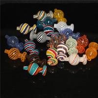 Colore narghilli Colore 25mm 28MMOD Cappuppi di carboidrati di carboidrati in vetro Cappuccio a bolla in vetro per piatti Top Quartz Banger Nails DAB Rigs Tubi