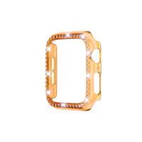 حالة الماس ل Apple Watch Series 6 SE 5 4 3 2 1 IWatch Cover PC Watch Case for Apple Watch Case 38mm / 42mm 40mm / 44m