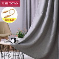 Fish Town Modern Solid Window Treatment Thermal Insulated Bl...