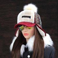 Kış Faux Kaşmir Bombacı Şapka Kadınlar Earflap Kapaklar Faux Kürk Ponpon Kar Şapka Ayarlanabilir Bohemian Rus Ushanka LJ201103