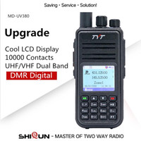 Hot TYT MD-UV380 DMR Walkie Talkie GPS Dual Band UHF VHF Tier1 / 2 Digital 5W md380 MD-390 DM-5R DM-8HX MD-380 Baofeng DMR MD-380