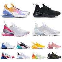 nike air max 270 airmax 270s react   최고 품질 남성 실행 신발 27C 테니스 겨우 간신히 장미 핑크 블랙 백인 중간 올리브 먼지 선인장 여성 남성 스포츠 스니커즈 트레이너