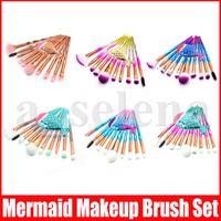 11pcs set Elmas Denizkızı Makyaj fırçaları Set Makyaj Fırça 3D Elmas Renkli Spiral Bling Fundation Krem Allık Glitter Fırça Seti fırçalar
