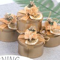 Wedding коробки конфеты жестяной коробки творческой свадьба конфеты упаковка подарочные коробки на заказ Мебель украшения Подарочная упаковка T2I51668