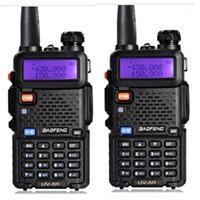 2 قطع walkie talkie baofeng uv-5r المهنية cb محطة راديو vhf / uhf 136-174 ميجا هرتز 400-520 ميجا هرتز اتجاهين راديو اليد المحمولة 1
