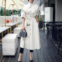 Autumn New Arrival High Quality Women Fashion Comfortable Loose a-line Trench Coat Fashion Temperament Outdoor Warm Long Trench