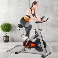 US Stock Inomhus Cykling Bike Stationary Belt Driven Smooth Exercise Bike med Oversize Soft Sadel LCD Monitor Fitnessutrustning MS192377Aae