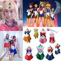 Аниме Довольно Soldier Sailor Moon Установить Косплей принцессы Хэллоуин Для детей Для взрослых Sailor Moon костюмы косплей платье