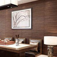 Wallpapers chinês retro madeira grão wallpaper imita palha tecelagem e vento japonês sushi restaurante sala de estar quarto tatami wallpape