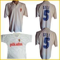 1994 1995 Real Zaragoza الرجعية لكرة القدم جيرسي 94 95 Camisetas de Fútbol Poyet Pardeza Nayim Higuera خمر قميص دي Football Classique Thaïlande