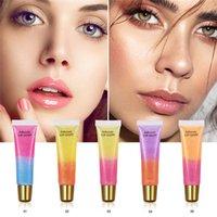Lakerain 보습 plumping 립 광택 립 플 럼 퍼 메이크업 반짝이 영양가있는 액체 립스틱 미네랄 오일 더블 컬러 립글로스