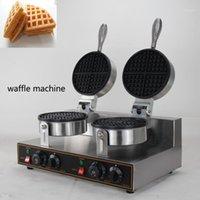 Maker per il pane ad Amercian Electric Non bastone portatile Waffle Maker, due piatti rotondi per serpenti Shop1