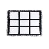 Квадратное одеяло сублимационные пустые коврики женщина мужчина поддержание теплых поставок мода напечатанные аксессуары 83 * 110см одеяла 26 41YP K2