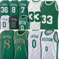 Boston Celtics Jayson 0 Tatum Jersey Jaylen 7 Brown Jerseys Kemba 8 Walker Uniforme Marcus 36 Basinho InteligenteBell Jersey Verde Retro No 33 Jesrey