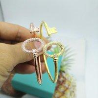 Kablolu Anahtar Zirkon Bileklik Bileklik 925 Gümüşler Beacons Klasik Bileklik Kadınlar Için Açık Lüks Takı Logosu Orijinal