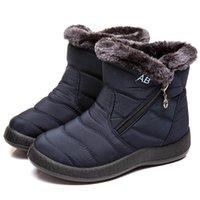 Mujeres de piel de invierno botas de nieve cálidas damas para hombre botines tibia botines de tobillo zapatos cómodos talla grande 36-43 mujeres hombres botas medias