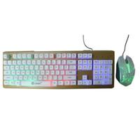 Limeide T23 Teclado Mouse Definido Jogo Teclado Mouse 104 Botão Suspensão Backlight Metal Metal Mecânica