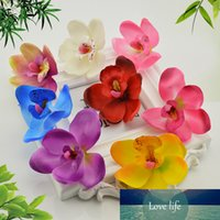 6cm borboleta orquídea orquídea flores falsificadas flores artificiais barato para casa decoração de casamento caixa de presente scrapbooking diy bordado