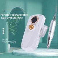 Accessoires de perceuse à ongles 2021 Machine rechargeable portable 35000RPM Manucure File Electric File Tools Set for Bit