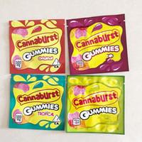 Novo 6 Tipos 500mg Cannaburst Embalagem Comestível Cannaburst Gummmies Embalagem Cheiro Prova Sacos Sour Gushers Edibles Vazio Mylar Sacos
