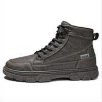 Mode Winterstiefel für Männer Frauen Schnee Booties Womens Schwarz graue Knöchel Botas Schneeschuhe Herren Slip On Flat Boot Schuhe