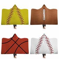 Softball Couvertures adulte Wearable Blanket capuche sportif Réchauffez Couvertures Baseball Softball hiver Literie Sofa mer frais du transport DDA715