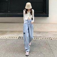 Jeans femininos guuzzyuviz azul rasgado namorado para mulheres alta cintura mamãe mamãe solto outono inverno denim calças calças jean femme