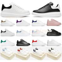 [مع مربع] الرجال أحذية أزياء المرأة أحذية رجالي الجلود الدانتيل يصل منصة المتضخم أحذية وحصص أبيض أسود عارضة الأحذية 35-46