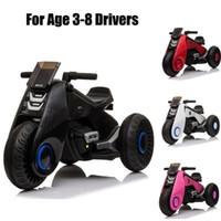 미국 주식 아이들은 Mototcycle에 타고 어린이 전기 오토바이 3 바퀴와 더블 드라이브 블랙 / 화이트 / 핑크 / 레드
