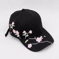 Wholesale Высокое Качество Унисекс Хлопок Открытый Бейсбол Слива Вышивка Мода Мода Спорт Шляпы Для Мужчин Женские Cap T200116