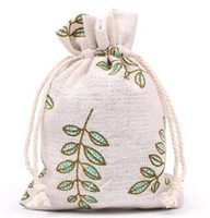 New Cotton Drawstring Bags Jewelry Pouch Gift Bag Wedding and Festivals packaging Decoration Favor holder 10*13cm/13*17cm 179 O2